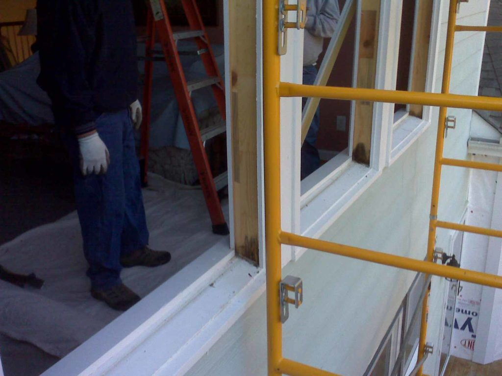 M&W wood window frame